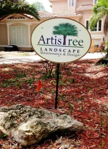 ArtisTree Landscape yard sign