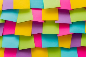wall of sticky notes