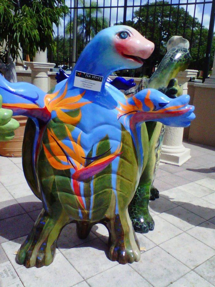 Turtle art statue